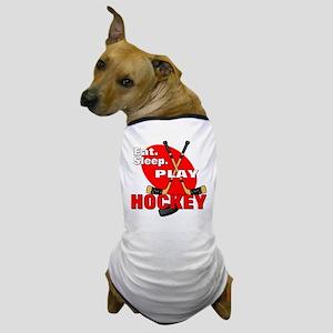 Eat Sleep Play Hockey Dog T-Shirt