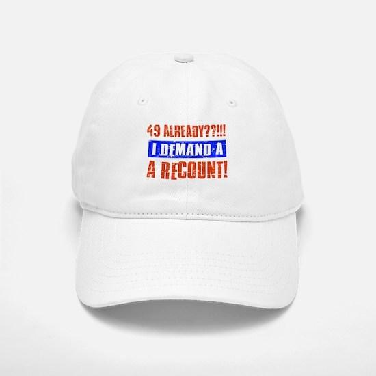 49th birthday design Baseball Baseball Cap
