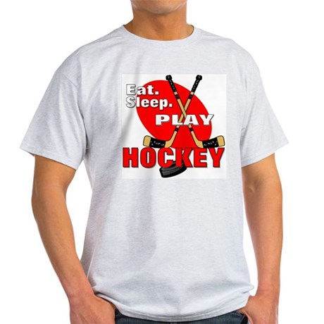 Eat Sleep Play Hockey Ash Grey T-Shirt