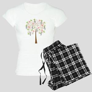 Music Treble Clef Tree Gift Women's Light Pajamas