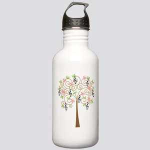 Music Treble Clef Tree Gift Stainless Water Bottle