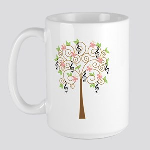 Music Treble Clef Tree Gift Large Mug