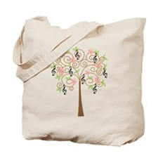 Music Treble Clef Tree Gift Tote Bag