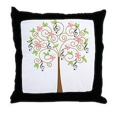 Music Treble Clef Tree Gift Throw Pillow