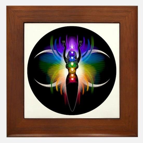Chakra Goddess Framed Tile