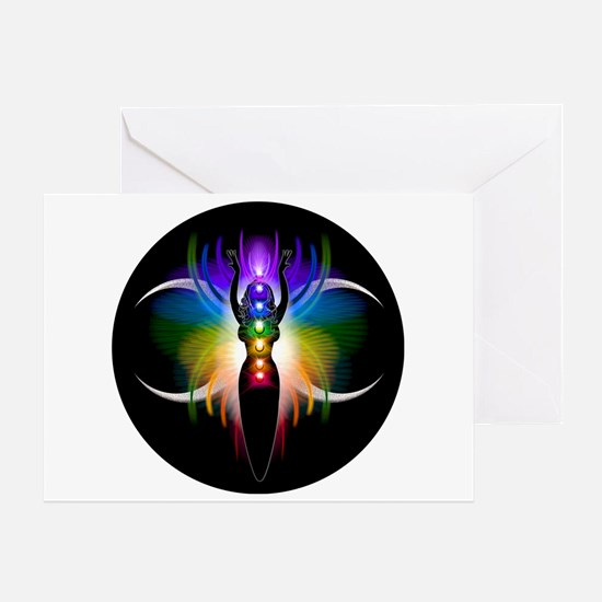 Chakra Goddess Greeting Card