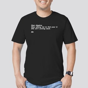 Dear Algebra Your X Left Men's Fitted T-Shirt (dar