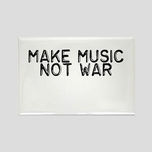 Make Music Not War Rectangle Magnet