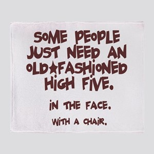 High Five In The Face Throw Blanket