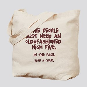 High Five In The Face Tote Bag