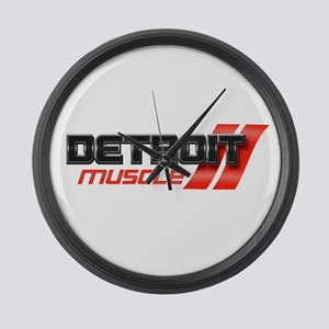 DETROIT MUSCLE Large Wall Clock