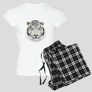 White Tiger Head Women's Light Pajamas