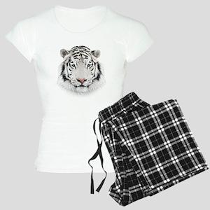 White Tiger Head Women's Light Pajamas