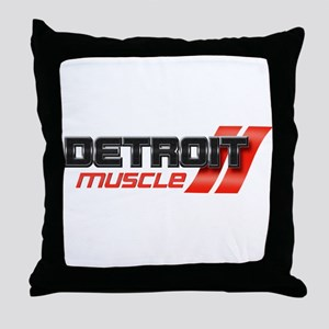 DETROIT MUSCLE Throw Pillow