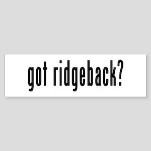 GOT RIDGEBACK Sticker (Bumper)