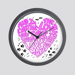 Equal to the Love you Make Wall Clock