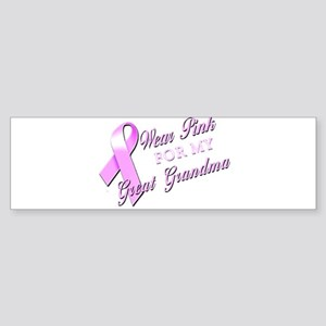 I Wear Pink for my Great Gran Sticker (Bumper)