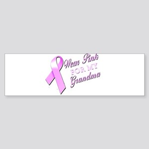 I Wear Pink for my Grandma Sticker (Bumper)