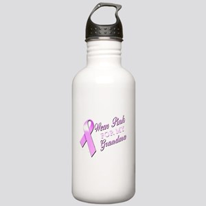 I Wear Pink for my Grandma Stainless Water Bottle