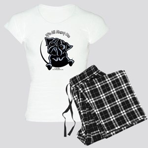 Black Pug IAAM Women's Light Pajamas