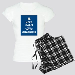 Keep Calm and Vote Gingrich Women's Light Pajamas
