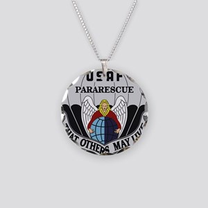 Pararescue Items Necklace Circle Charm
