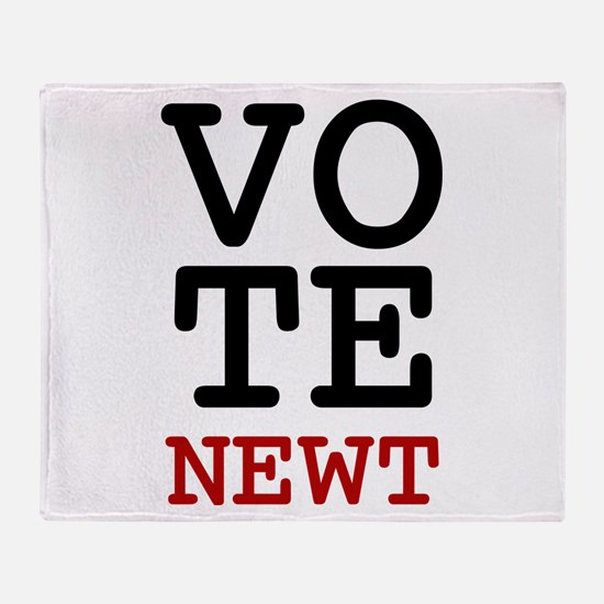 Vote Newt Gingrich Throw Blanket