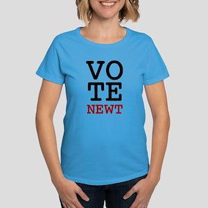 Vote Newt Gingrich Women's Dark T-Shirt