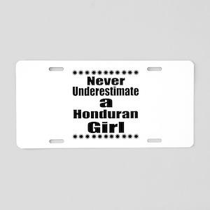 Never Underestimate A Hondu Aluminum License Plate