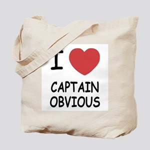 I heart captain obvious Tote Bag