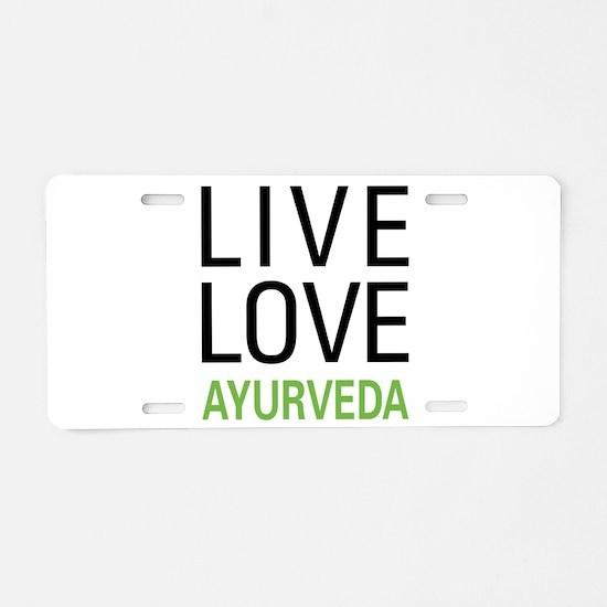 Unique Alternative medicine Aluminum License Plate
