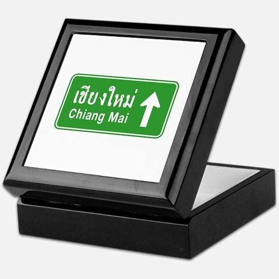 Chiang Mai Thailand Traffic Sign Keepsake Box