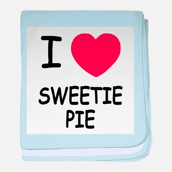 I heart sweetie pie baby blanket