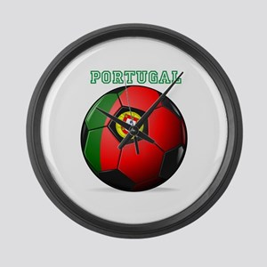Portugal Soccer Large Wall Clock