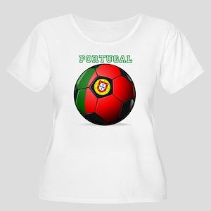 Portugal Soccer Women's Plus Size Scoop Neck T-Shi