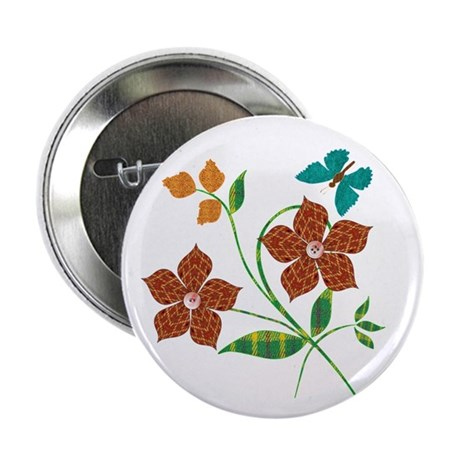 "Material Flowers 2.25"" Button (100 pack)"