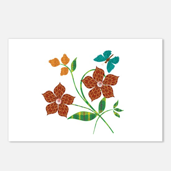 Material Flowers Postcards (Package of 8)