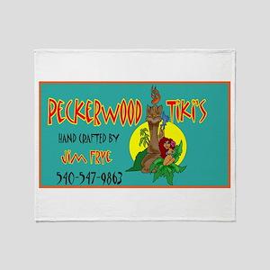 PECKERWOOD TIKI Throw Blanket