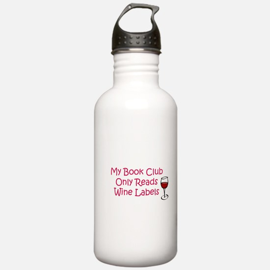 My book club only reads wine Water Bottle