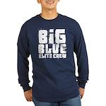 Big Blue Elite Crew Long Sleeve Dark T-Shirt