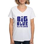 Big Blue Elite Crew Women's V-Neck T-Shirt
