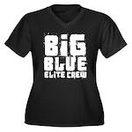 Big Blue Elite Crew Women's Plus Size V-Neck Dark