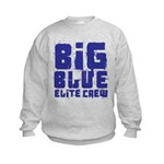 Big Blue Elite Crew Kids Sweatshirt