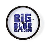 Big Blue Elite Crew Wall Clock
