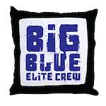 Big Blue Elite Crew Throw Pillow