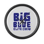 Big Blue Elite Crew Large Wall Clock