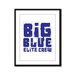 Big Blue Elite Crew Framed Panel Print