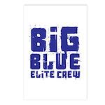 Big Blue Elite Crew Postcards (Package of 8)