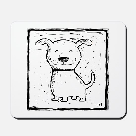 Cute Dog (b&w) Mousepad