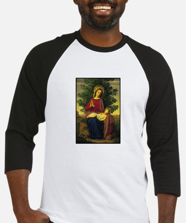 Mother Mary Praying Baseball Jersey